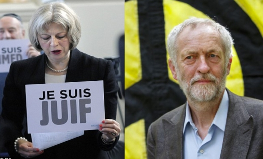 Theresa Je Suis Juif vs. Jeremy Turn the other Cheek