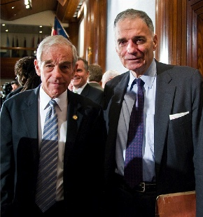 Image result for Ralph Nader, Ron Paul and bosh