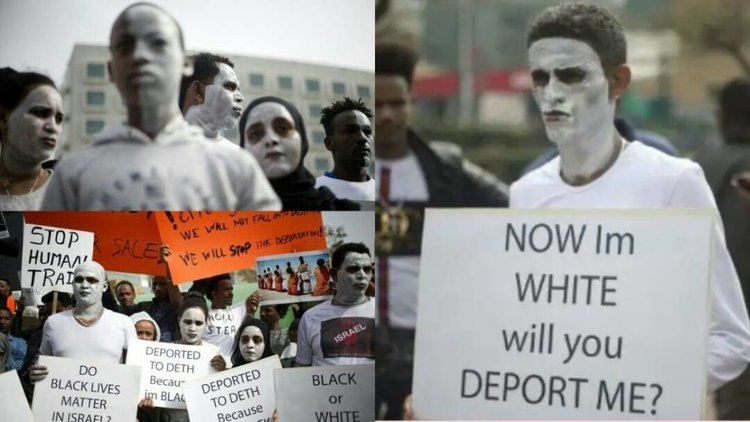 """Now I'm White Will You Deport Me?"" – Africans in Israel Paint Their Faces White To Avoid Deportation"
