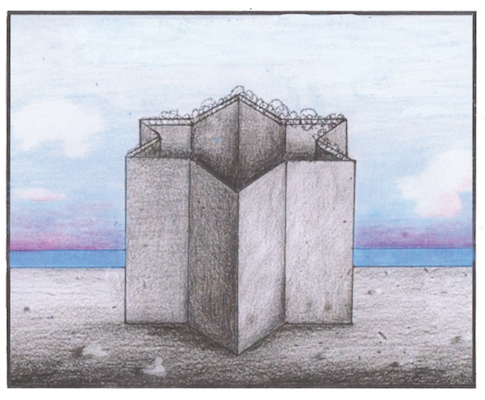 Separation Wall by Enzo Apicella RIP (A to Zion-the Definitive Israeli Lexicon)